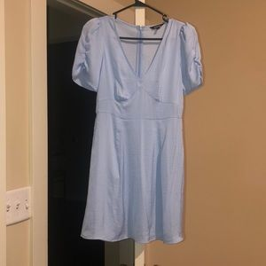 Express powder blue cap sleeve dress